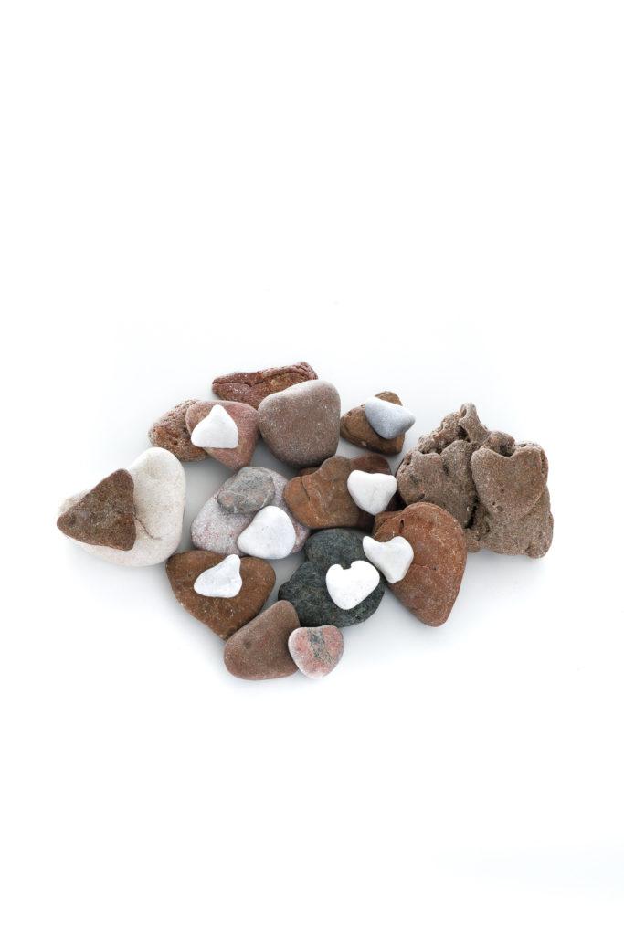 1137 piedras de corazón